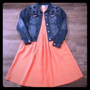 Lularoe orange amelia dress
